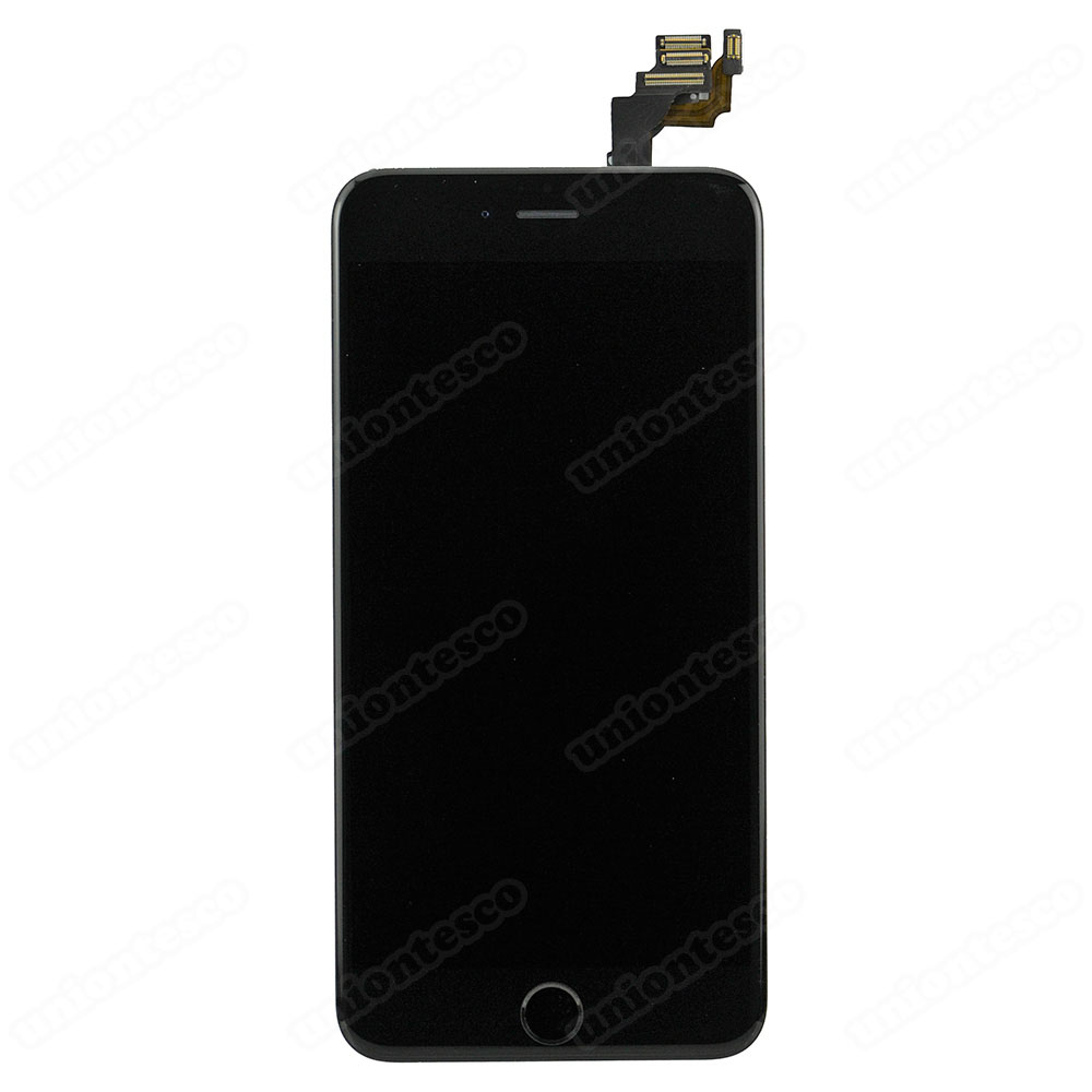 iPhone 6 Plus LCD Screen Full Assembly with Black Ring - Black
