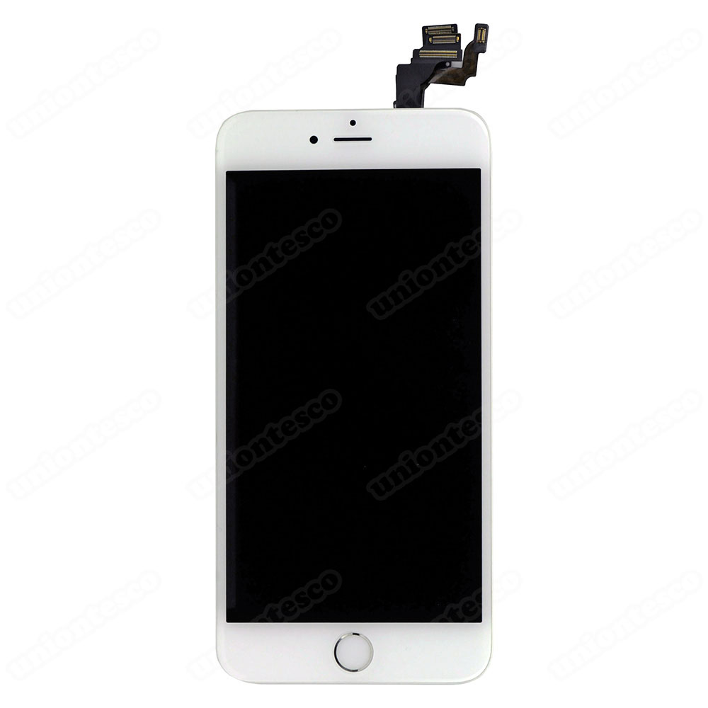 iPhone 6 Plus LCD Screen Full Assembly with Silver Ring - White