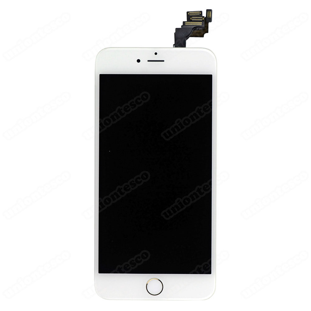 iPhone 6 Plus LCD Screen Full Assembly with Gold Ring - White
