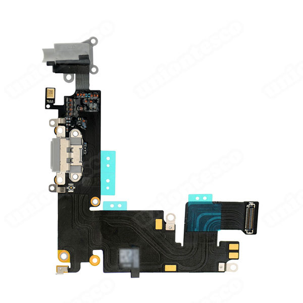 iPhone 6 Plus Headphone Jack with Lightning Connector Flex Cable - Light Gray