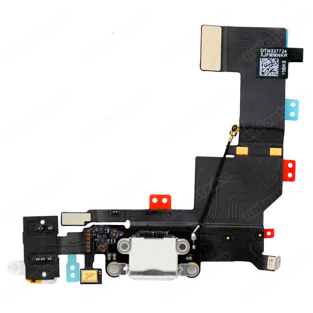 iPhone 5S Dock Connector Flex Cable White