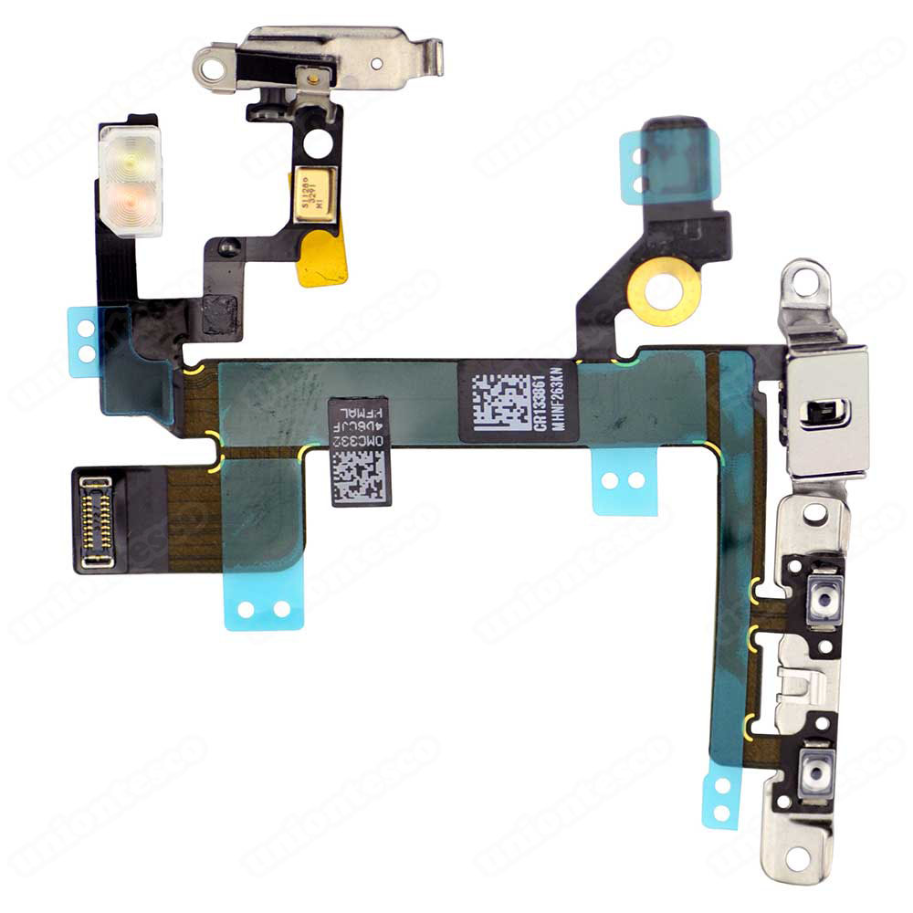 iPhone 5S Power ON&OFF Control Flex Cable Assembly with metal plate