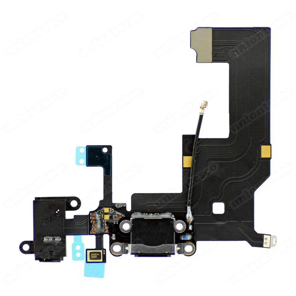 iPhone 5 Headphone & Lightning Connector Flex Cable Black
