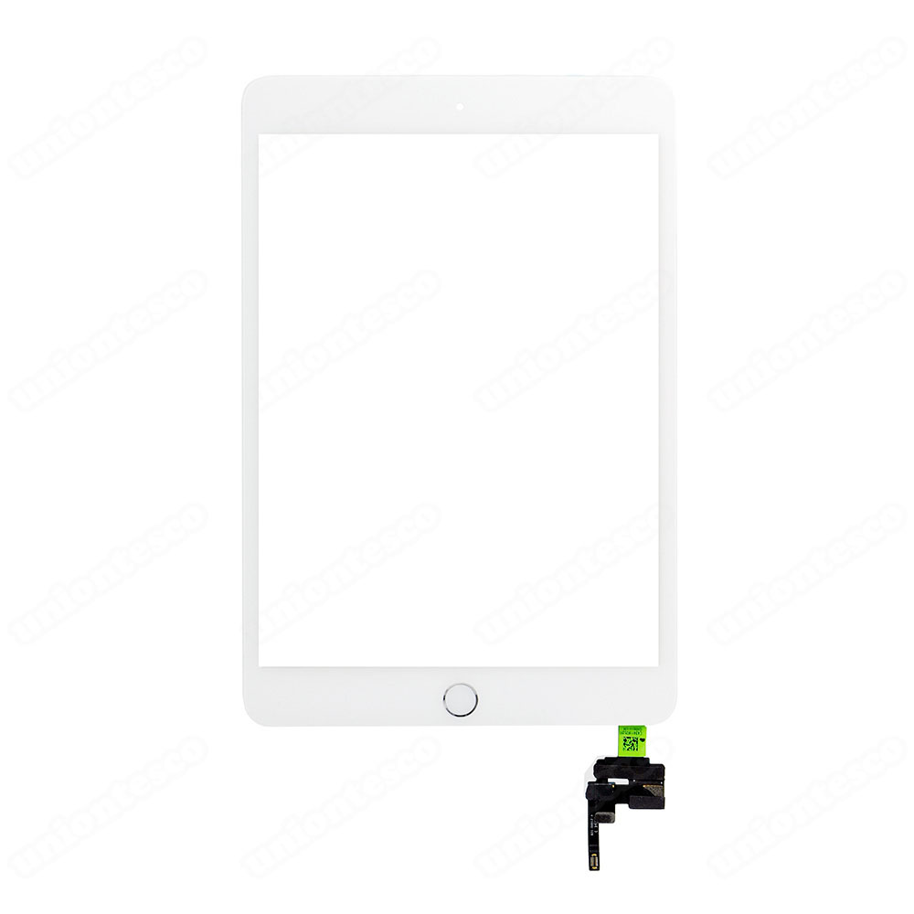 iPad Mini 3 Digitizer Assembly With Silver Home Buttom Assembly - White
