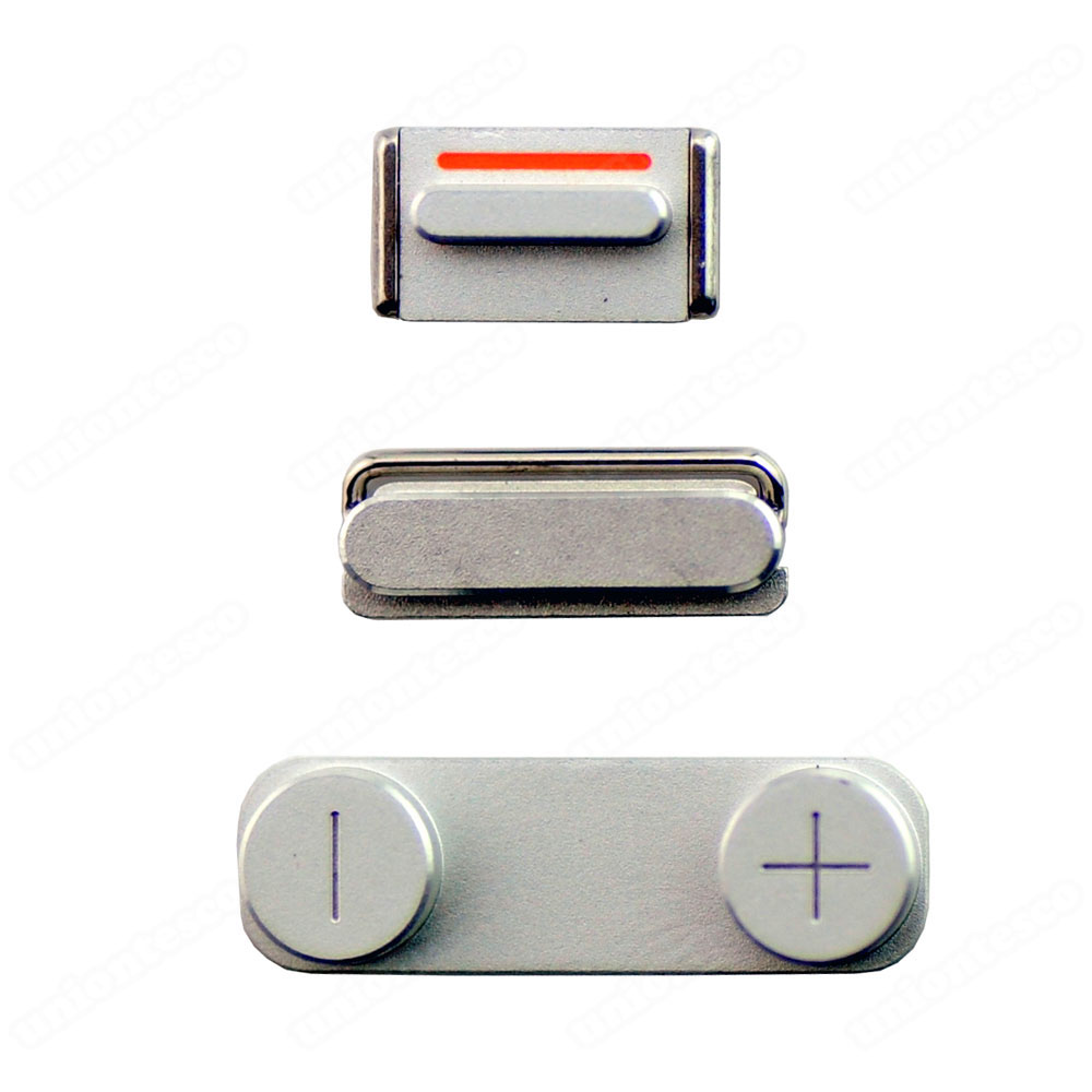 iPhone 5 Side Buttons Silver