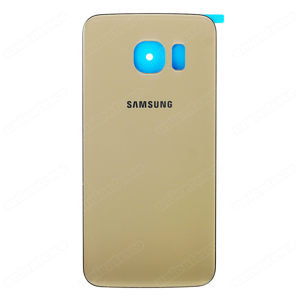 Samsung Galaxy S6 Edge SM-G925A Battery Door With Adhesive Gold