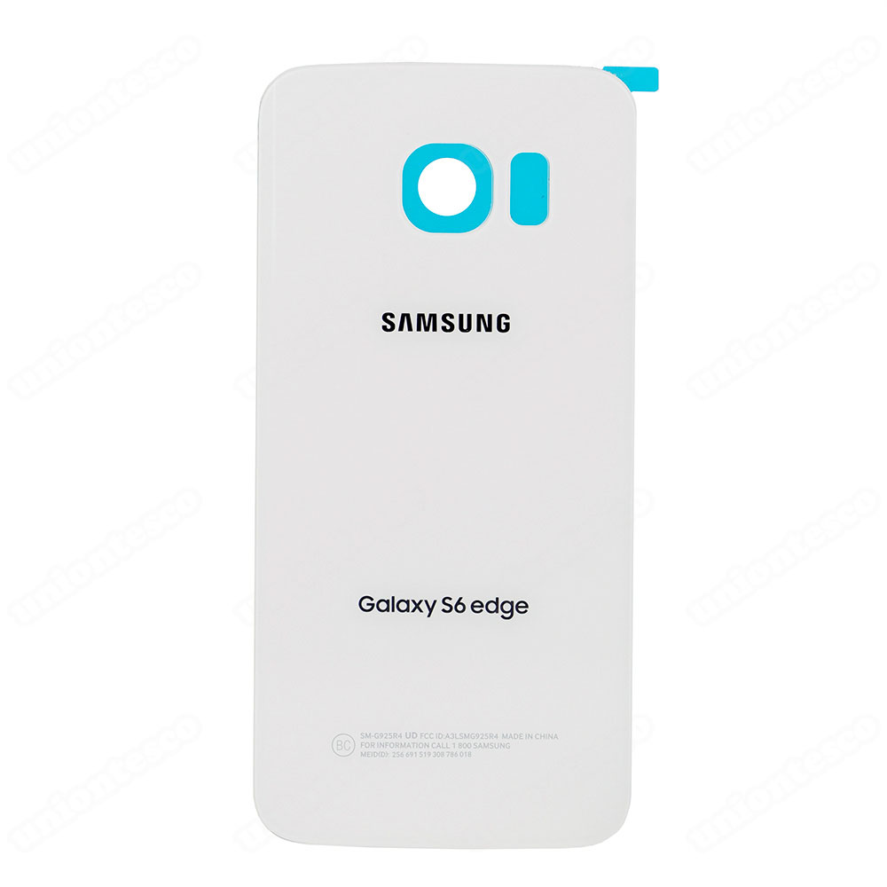 Samsung Galaxy S6 Edge SM-G925A Battery Door With Adhesive White